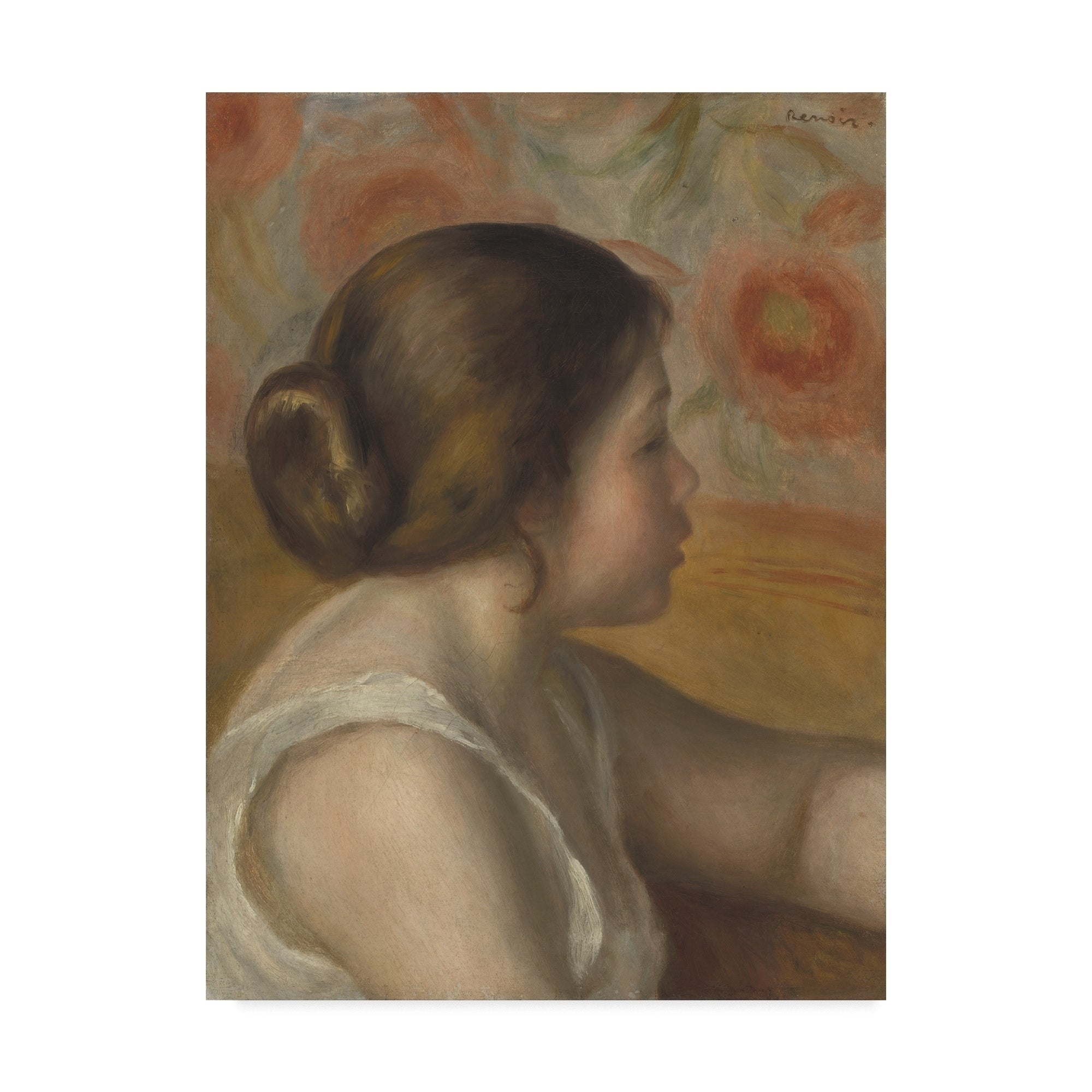 After the bath by Pierre-Auguste Renoir Giclee Fine ArtPrint Repro on Canvas