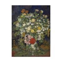 Vincent Van Gogh 'Bouquet Of Flowers In A Vase' Canvas Art - Multi-color