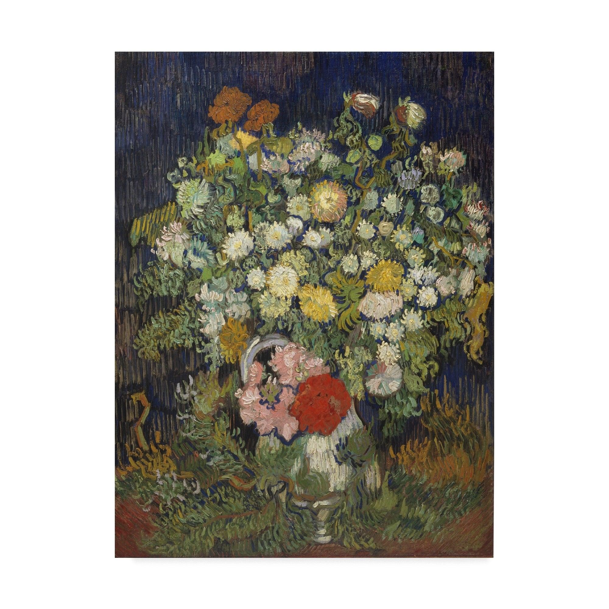 Vincent Van Gogh Bouquet Of Flowers In A Vase Canvas Art Multi Color Overstock 21030156