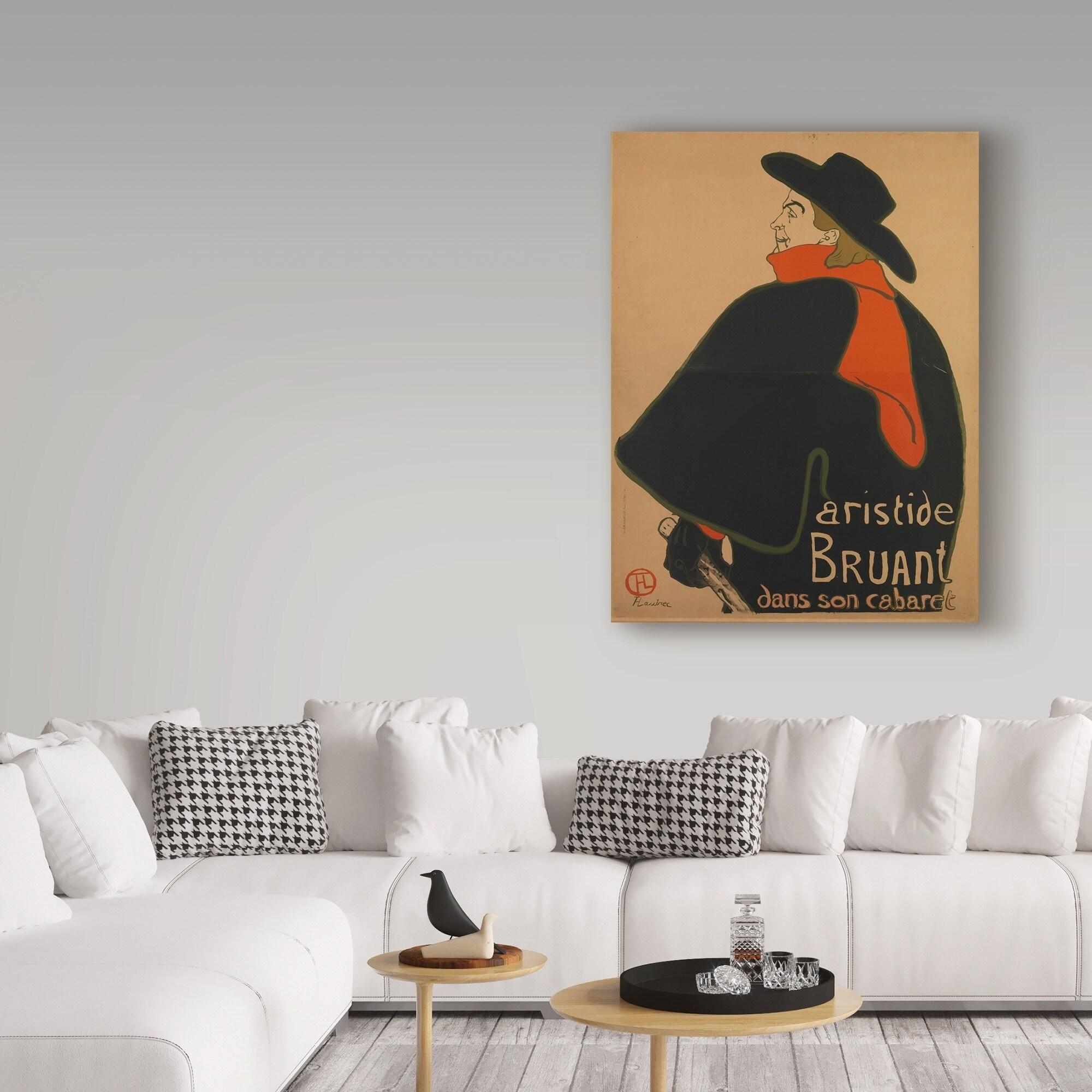 Henri De Toulouse Lautrec Aristide Bruant At His Cabaret Canvas Art Multi Color Overstock 21030202