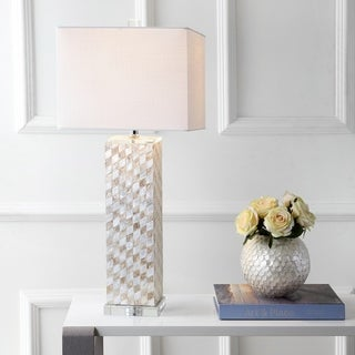 "Link to Daniel 30.5"" Seashell/Crystal LED Table Lamp, Cream by JONATHAN  Y Similar Items in Table Lamps"