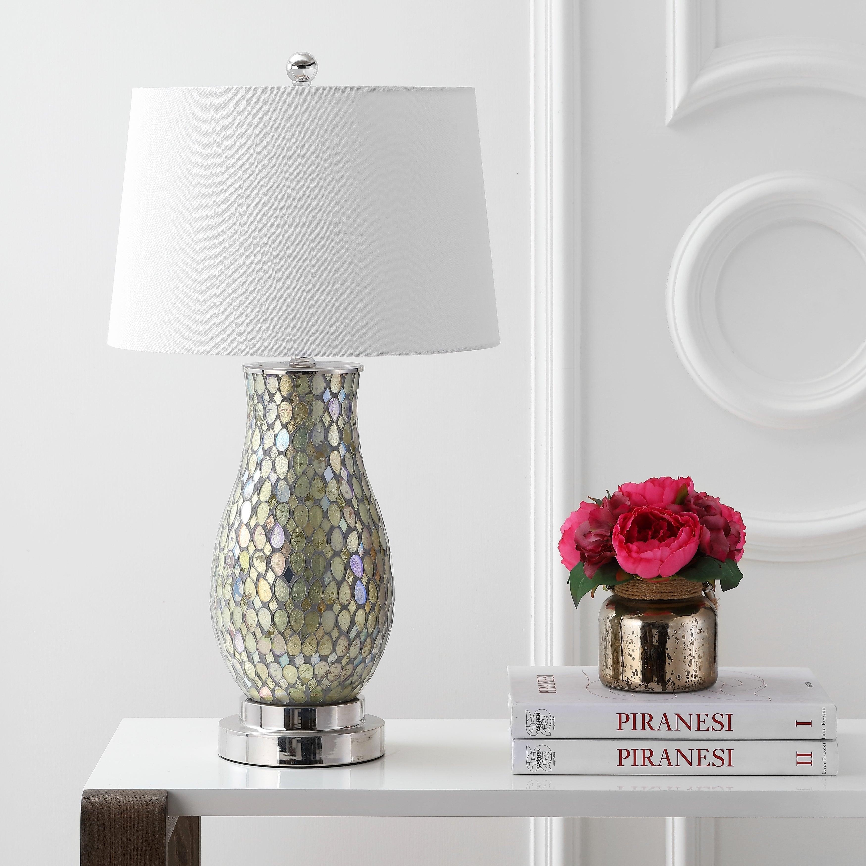 Amazing Douglas 28 Mosaic Led Table Lamp Green By Jonathan Y Interior Design Ideas Clesiryabchikinfo