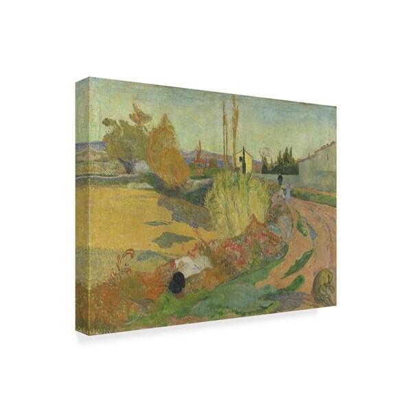 Farmhouses in Arles by Paul Gauguin Giclee Fine ArtPrint Reproduction on Canvas