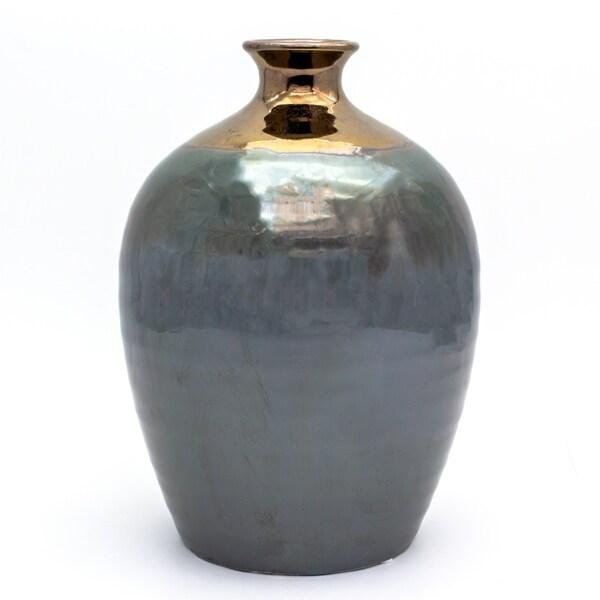 Claybarn Patina Verde Rounded Vase