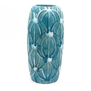 Claybarn Grotto Aqua Tall Rope Vase