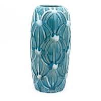 Claybarn Grotto Aqua Tall Rope Vase
