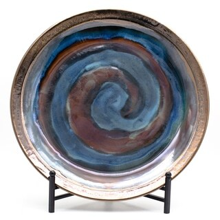 Claybarn Patina Storm Swirled Plate with Stand