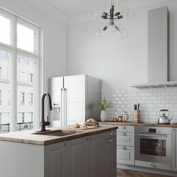 VIGO Gramercy Matte Black Pull-Down Kitchen Faucet with Deck Plate