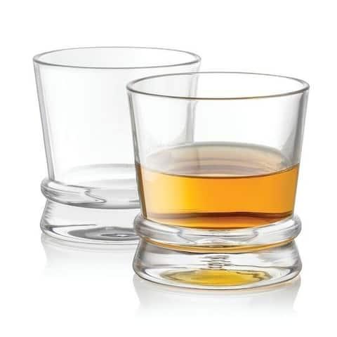 JoyJolt Afina Scotch Glasses, 10 Oz Set of 2 Old Fashioned Whiskey Glasses