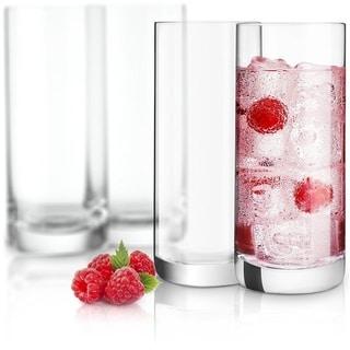 Link to JoyJolt Stella Non-Leaded Crystal High Ball Glasses, 14.2 Oz Set of 4 Tumbler Drinking Glasses Similar Items in Glasses & Barware
