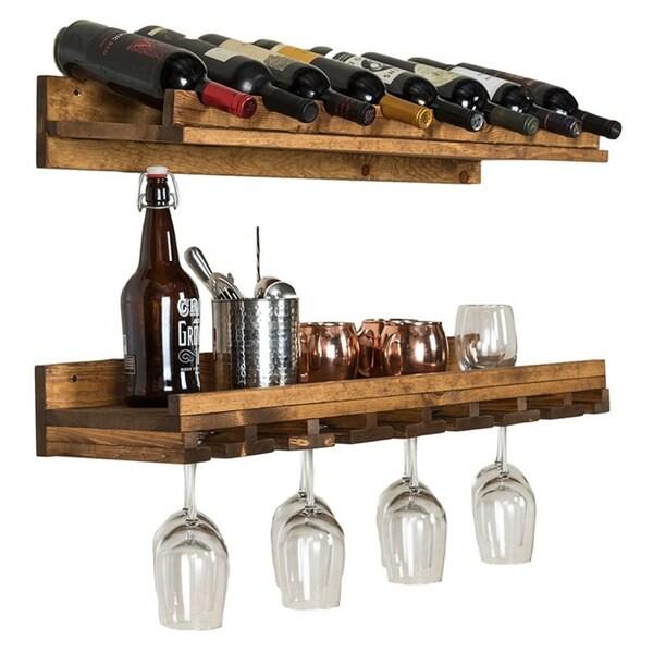 Del Hutson Designs Rustic Luxe Wine Bottle and Stemware Set