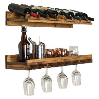 Del Hutson Designs Rustic Luxe Wine Bottle and Stemware Set