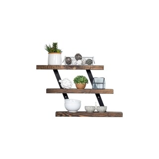 Del Hutson Designs Industrial Grack Three-Tier Floating Shelves