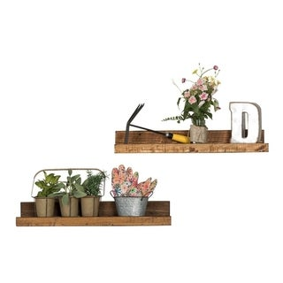 Handmade Rustic Luxe Floating Shelf, Set of 2