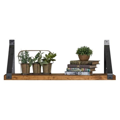 Del Hutson Designs Industrial Grace Angled Bracket Shelf