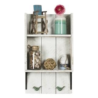 Del Hutson Designs Reclaimed Wood Bird Bathroom Shelf
