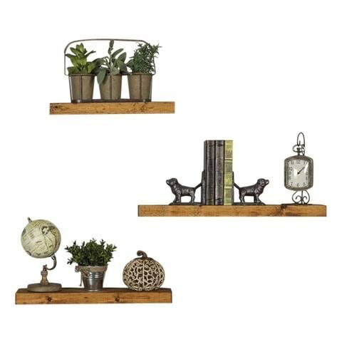 Del Hutson Designs True Floating Shelves, 3-Piece Set