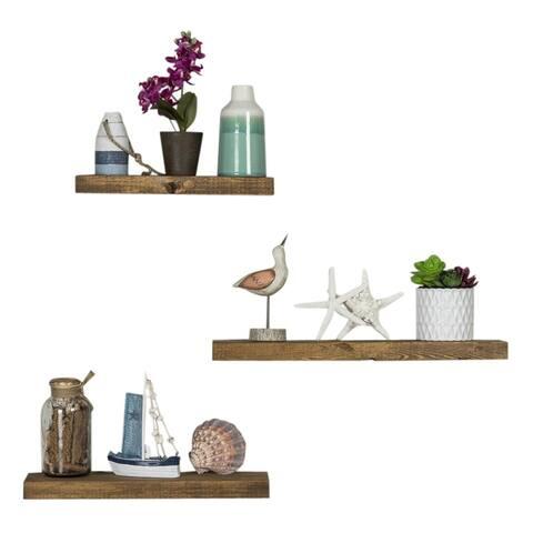 Handmade Del Hutson Designs True Floating Shelves, 3-Piece Set