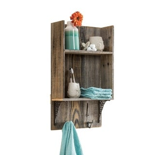 Del Hutson Designs Reclaimed Wood Bathroom Shelf