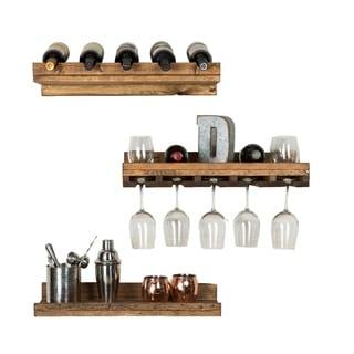 Handmade Del Hutson Designs Rustic Luxe Tiered Wine Set