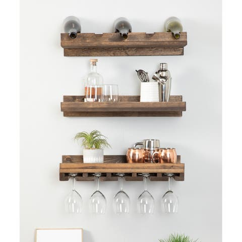 Del Hutson Designs Rustic Luxe Tiered Wine Set