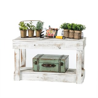 Del Hutson Designs Barnwood Entry Bench (Option: White)