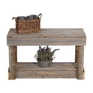 Del Hutson Designs Barnwood Entry Bench