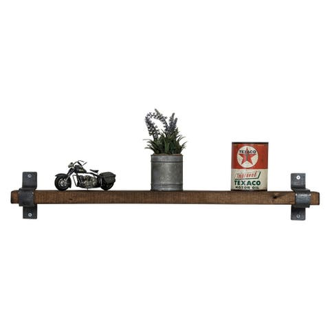 Handmade Del Hutson Designs Industrial Grace Floating Shelf