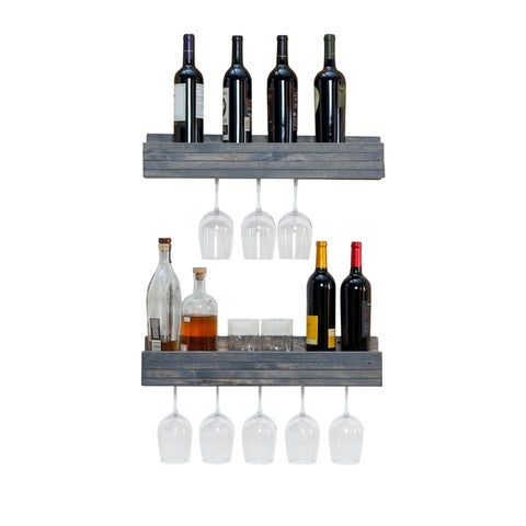 Del Hutson Designs Rustic Luxe Shallow Stemware Racks, Set of 2
