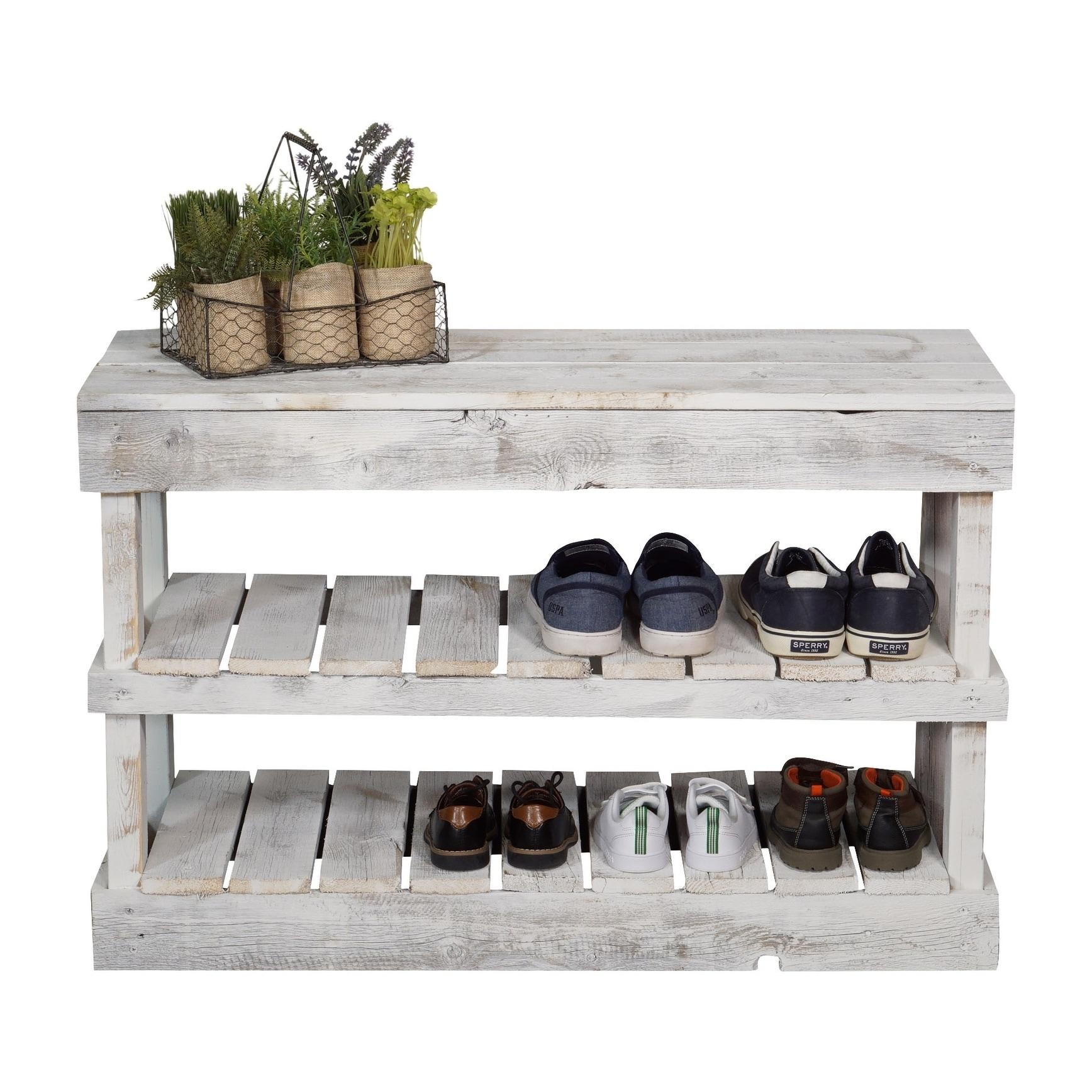 Del Hutson Designs Barnwood Shoe Rack