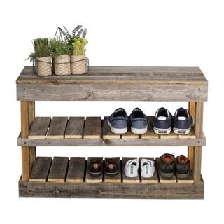Handmade Del Hutson Designs Barnwood Shoe Rack