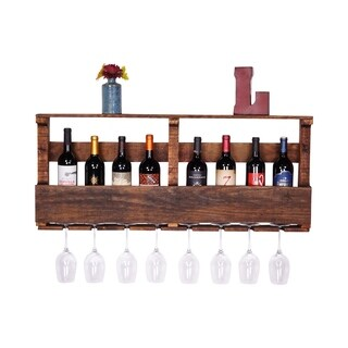 Del Hutson Designs Original Large Top Shelf Pallet Wine Rack