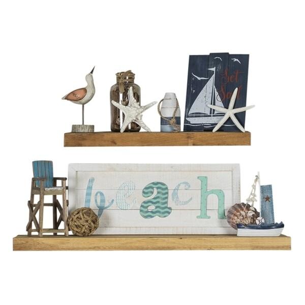 Shop Handmade Rough Cedar True Floating Shelf Set Of 2