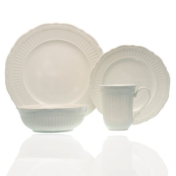 Red Vanilla Tuscan Villa 16pc Dinner Set w/ Coupe Bowl. Opens flyout.