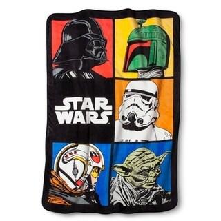"""Disney Star Wars Classic Grid Twin Blanket, 62"""" x 90"""""""