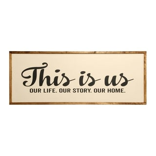 Oversized This Is Us Farmhouse Sign - CREAM