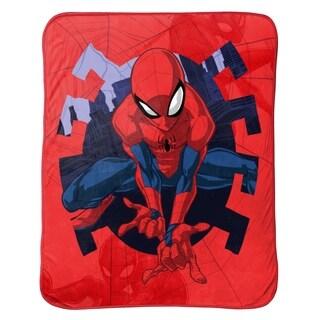 Marvel Spiderman Web Shot Travel Blanket