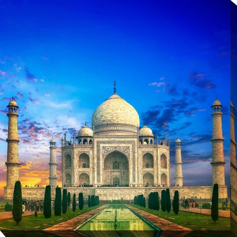 """TAJ MAHAL"" Framed Print on Canvas"