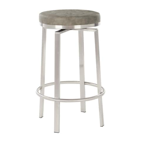 Copper Grove Libohove 26-inch Counter Swivel Stool with Steel Base (Set of 2)