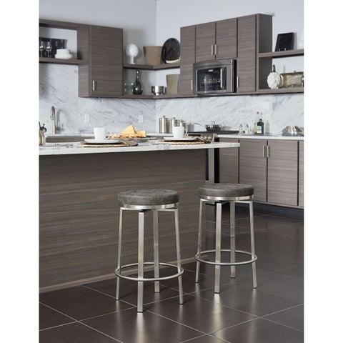 Katy 26 inch Fabricated Counter Swivel Stool with Steel Base, 2-Pack