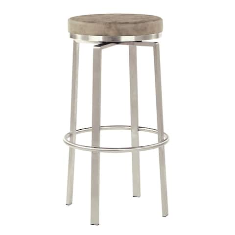Katy 30 inch Fabricated Swivel Bar Stool with Steel Base, 2-Pack