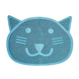 2-Pack Fresh Step Blue Cat Shaped Litter Trapper Keeper Mat