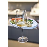"""Vanilla Trends Wine & Cheese Plate Oval 8.75"""" Set of 6"""
