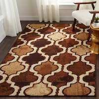 Superior Designer Viking Brown Area Rug - 8' x 10'
