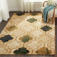 Superior Designer Viking Cream Area Rug - 8' x 10'