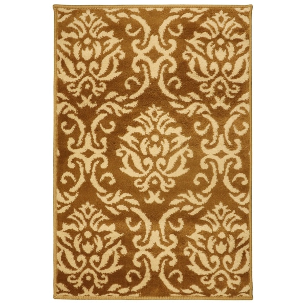 Shop Superior Designer Fleur De Lis Area Rug 2 X 3 On Sale