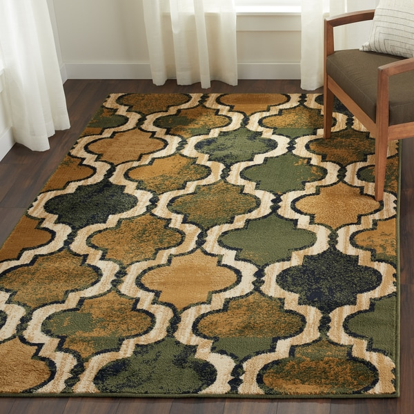 Superior Designer Viking Green Area Rug - 8' x 10'