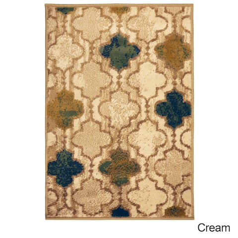 Superior Designer Viking Cream Area Rug - 2' x 3'
