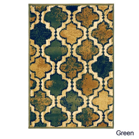 Superior Designer Viking Green Area Rug - 2' x 3'