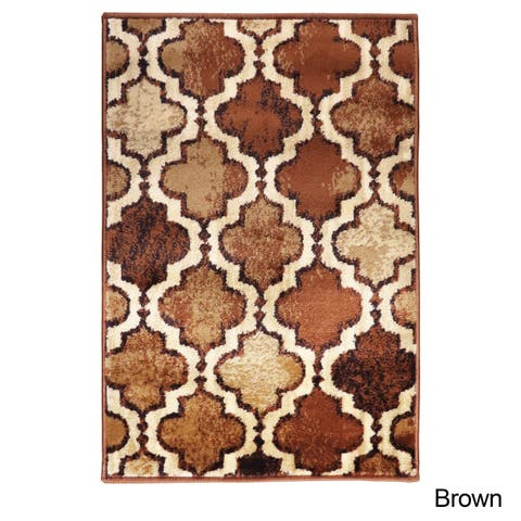 Superior Designer Viking Brown Area Rug - 2' x 3'
